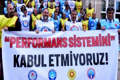 Eskisehir'de 4 büyük eğitim sendikasından performansa karşı ortak protesto