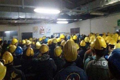 Eskişehir'de termik santral çalışanı binlerce işçi ücretlerini alamadıkları için grevde