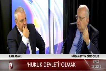 Hüsamettin Cindoruk: Başbakanda şantiye kültürü var, 'tünel açtık' diyor. Tünel açmasının faydası, ihtilalde tünelde saklandı