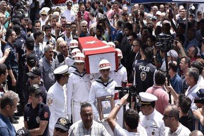 Irak'ta şehit olan Uzman Çavuş son yolculuğuna uğurlandı