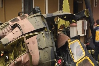 İstanbul'da askeri helikopter düştü: 4 asker şehit oldu