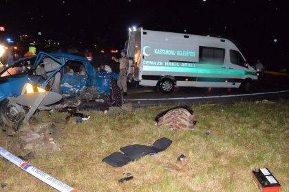 Kastamonu'da feci kaza: 6 ölü, 2 yaralı