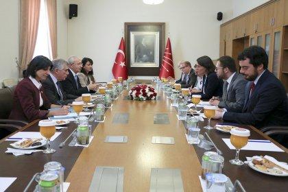 Kılıçdaroğlu, Avrupa Parlamentosu Türkiye Raportörü Kati Piri ile görüştü
