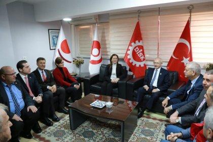 Kılıçdaroğlu DİSK'i ziyaret etti