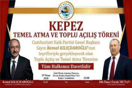 Kılıçdaroğlu, Kepez'de toplu açılış törenine katılacak