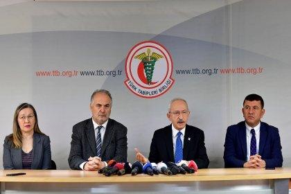 Kılıçdaroğlu, Türk Tabipler Birliği'ni ziyaret etti