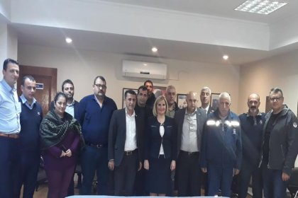 Konak Belediye Başkan aday adayı Türkan Başyiğit'ten sendikalara ziyaret