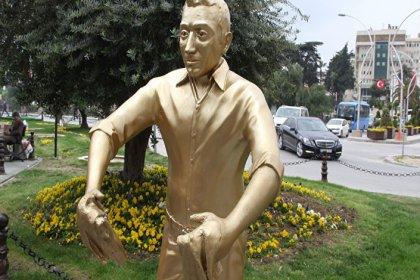 'Künefeci Adam' heykelinin tepsisi bulundu