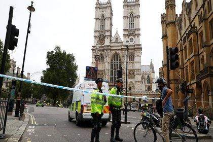 Londra'da parlamento binası bariyerlerine çarpan sürücü, 'terör eylemi' şüphesiyle tutuklandı