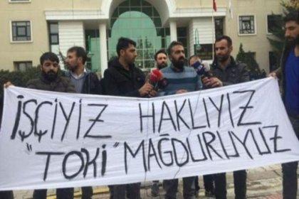 Maaşları için direnen TOKİ işçilerine para cezası
