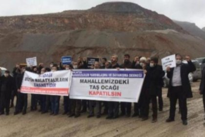 Malatya'da köylülerden 'taşocağı kapatılsın' eylemi
