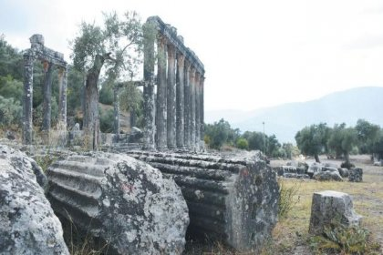 Milas'ta yedi antik mezar gün ışığına çıktı