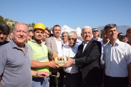 Muğla Büyükşehir Belediye Başkanı Gürün, Eşen'e yapılacak arıtma tesisinin temelini attı