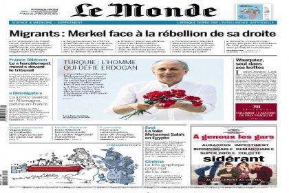 Muharrem İnce Le Monde'un birinci sayfasında