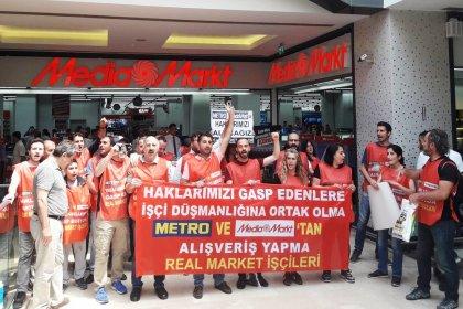 Real Market direnişçileri, Trump AVM'deki Media Markt ve Kağıthane Metro mağazasında eylem yapacak