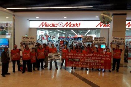 Real Market işçileri haklarını almak için mücadelelerine devam ediyor