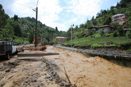 Rize'de sel ve heyelan hasarı ortaya çıktı: En büyük hasar alt yapıda
