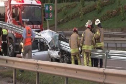 Sancaktepe'de trafik kazası: 2 ölü 3 yaralı