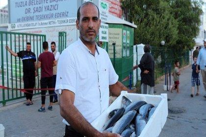 Suriyelilere 20 bin balık dağıtıldı