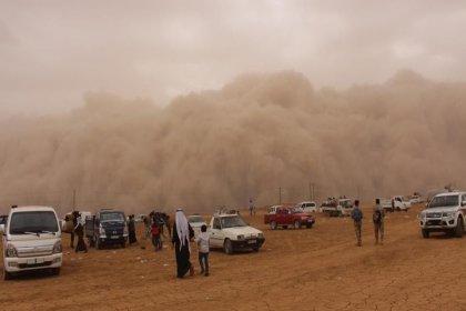 Suriye'nin kuzeyindeki toz fırtınası Güneydoğu'yu da etkiledi