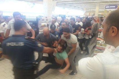Tazminatlarını alamadıkları için Migros'ta eylem yapan Uyum Makro işçileri gözaltına alındı
