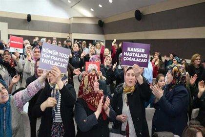 Tekirdağ'a yapılması planlanan termik santral protesto edildi