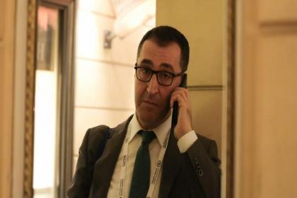 Türk heyetiyle aynı otelde kalan Yeşiller Partisi Milletvekili Cem Özdemir'e polis koruması