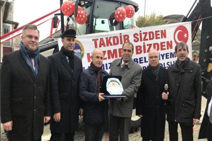 Türkiye Belediyeler Birliği'nden Alpullu Belediyesine hibe edilen kepçe için kurban kesildi
