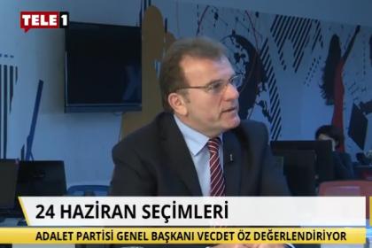 Vecdet Öz: CHP, İYİ Parti ve Saadet Partisi bize destek versin, biz de Cumhurbaşkanlığı yarışına girelim