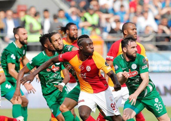 Galatasaray deplasmanda Çaykur Rizespor'u 3-2 yendi