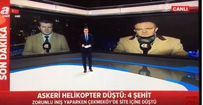 A Haber sunucusu helikopterin düşmesi haberini böyle verdi: Keşke bu görüntü Amerikan askerine ait olsaydı
