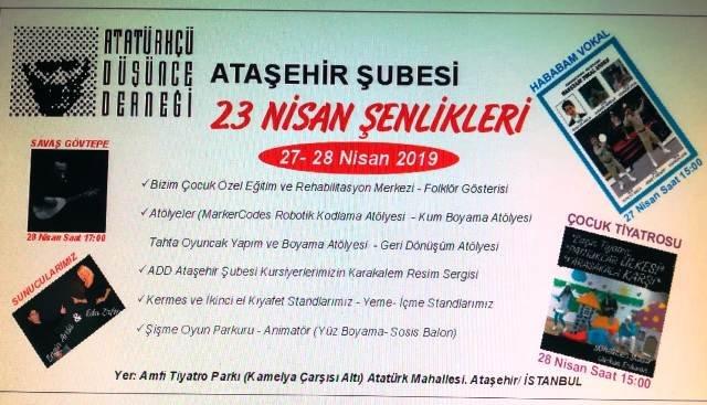 ADD Ataşehir'den 23 Nisan şenlikleri