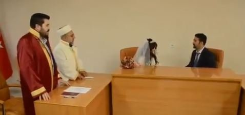 Ağrı Belediyesi'nde dini nikah kıyılmaya başlandı