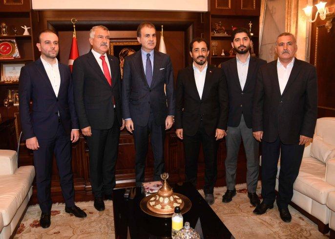 AKP Sözcüsü Çelik'ten Zeydan Karalar'a ziyaret