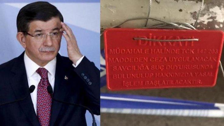 AKP'li belediye, Davutoğlu'nun parti binasını mühürledi