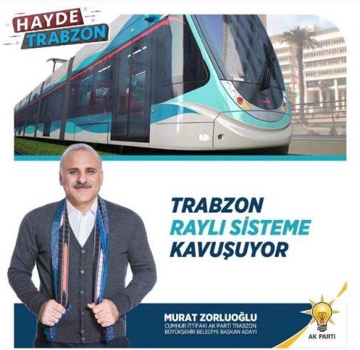 AKP'nin Trabzon adayı Murat Zorluoğlu İzmir Belediyesi görseliyle oy istedi!