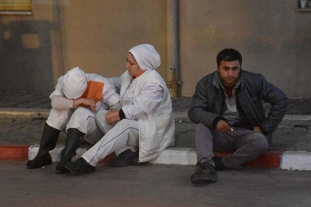 Amonyaktan etkilenen 25 işçi, hastaneye kaldırıldı