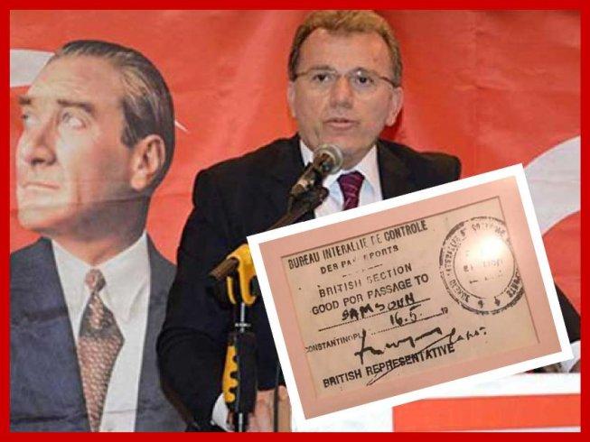 AP'li Vecdet Öz'den gençlere; Atatürk ve silah arkadaşlarının İstanbul'dan Samsun'a giderken İngiliz vizesi almak zorunda kaldıklarını sakın unutmayın!