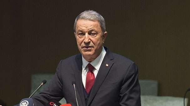 Bakan Akar: Sınırda terör koridoru oluşturulmasına göz yummayız