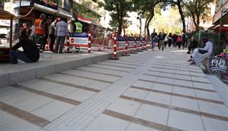 Başkentin merkezinde yenileme çalışması hızla sürüyor