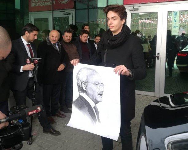 Bosna Sancak Derneği'nden Kılıçdaroğlu'na hediye portre