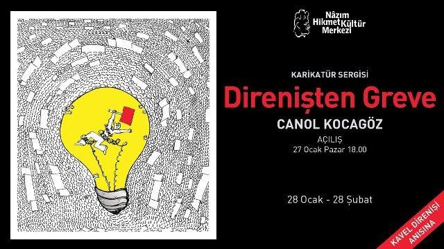 Canol Kocagöz'den karikatür sergisi: Direnişten Greve