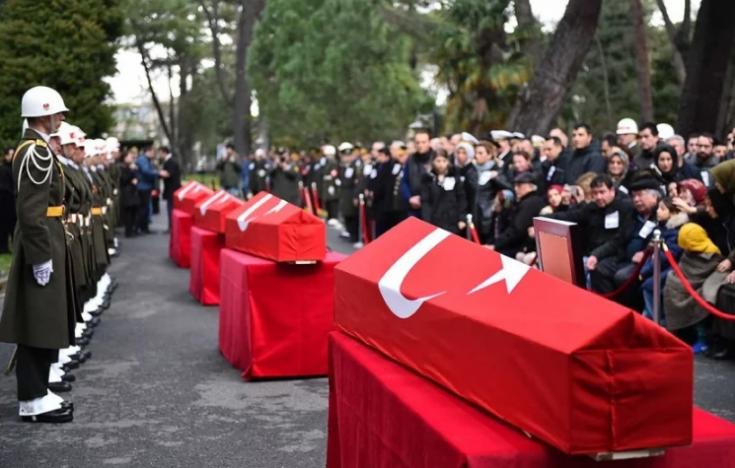 Çekmeköy'deki helikopter kazasında yaşamını yitiren askerler için tören düzenlendi