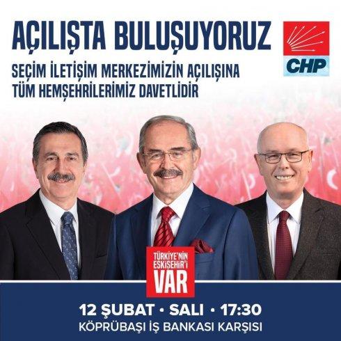 CHP'li Tepebaşı Belediyesi, Seçim İletişim Merkezi'ni açıyor