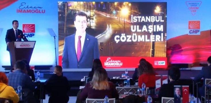 CHP'nin İstanbul Adayı Ekrem İmamoğlu ulaşım çözümlerini açıkladı