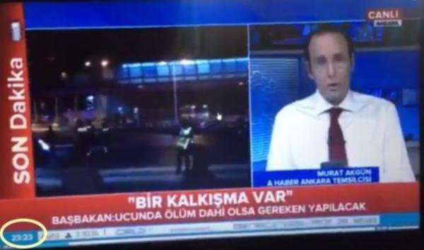 Darbe bildirisini TRT'den önce A Haber okumuş