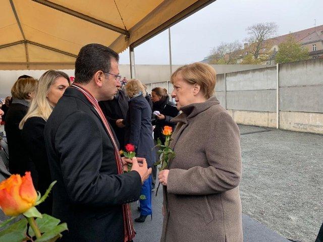 Ekrem İmamoğlu: Merkel ile güzel bir diyalog ortamı oldu