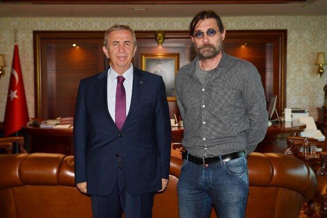 Erdal Beşikçioğlu'ndan Mansur Yavaş'a ziyaret