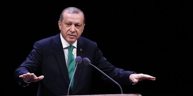 Erdoğan: Bay Kemal 'İstihdam için üretim gerekli' diyor. Bay Kemal, önce yatırım gerekli, yatırım olmadan üretim olur mu? Bilmiyor