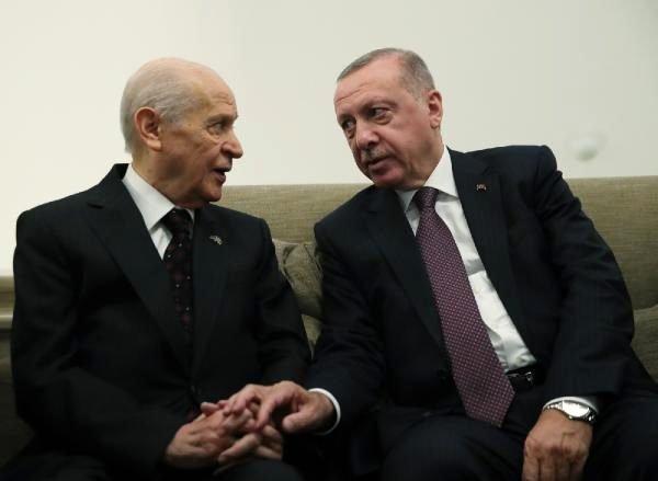 Erdoğan, Meclis'te MHP Genel Başkanı Bahçeli ile görüştü